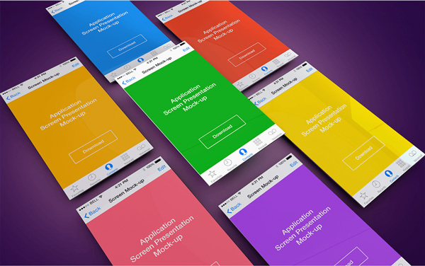 2.App Screen Presentation Mockups