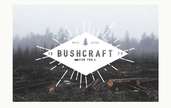 2.Free Font Of The Day  Bushcraft