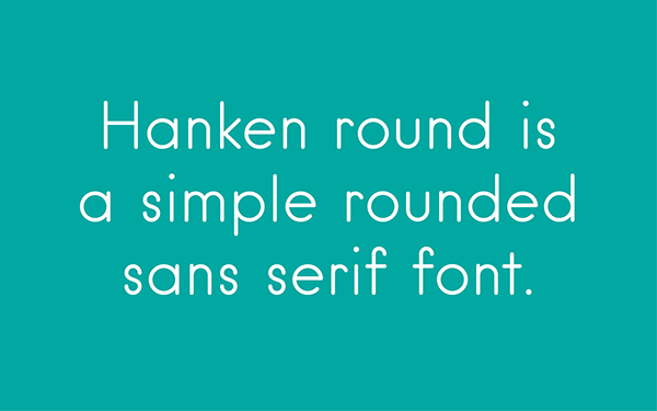 2.Free Font Of The Day  Hanken Round