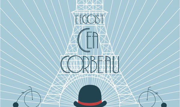 2.Free Font Of The Day  L'egoist Corbeau