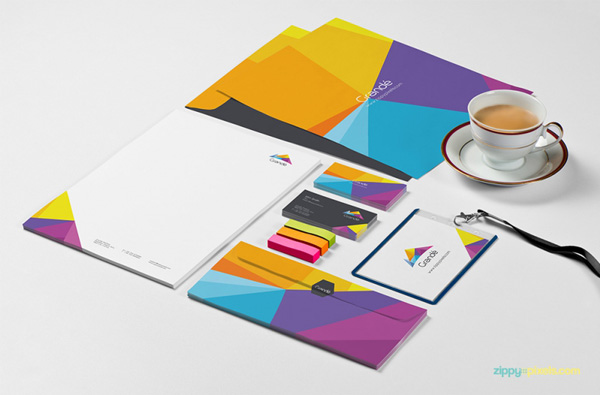 2.Photorealistic Stationery Branding PSD Mockups