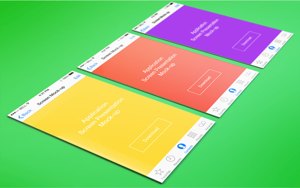 3.App Screen Presentation Mockups