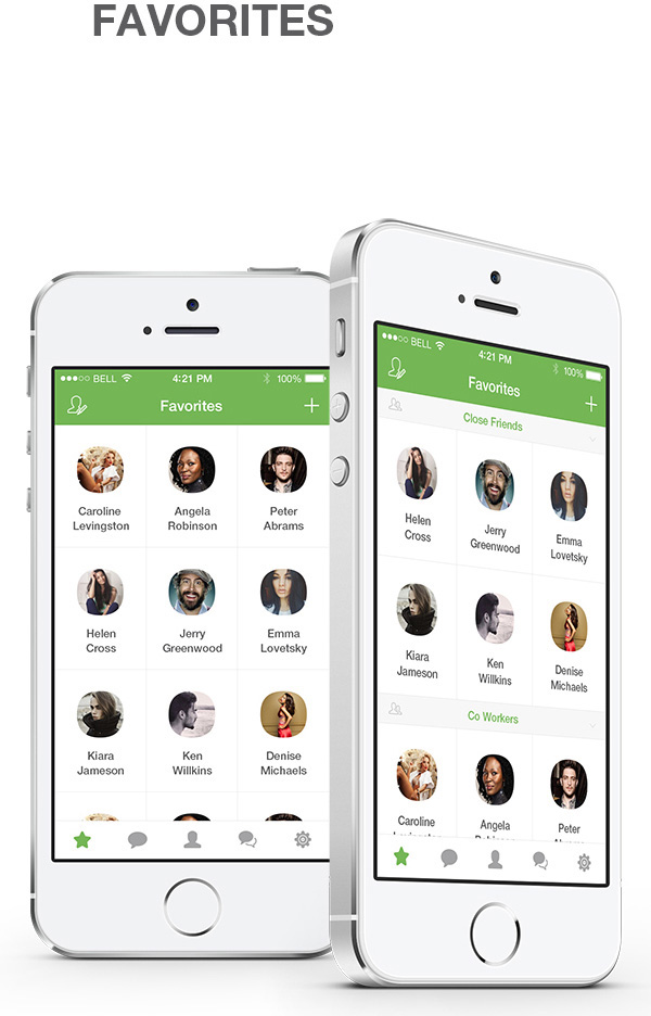 3.Mobile App Design Inspiration – WhatsApp Redesign for iOS 8 (2014)