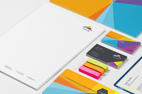 3.Photorealistic Stationery Branding PSD Mockups