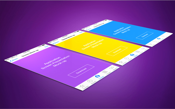 4.App Screen Presentation Mockups