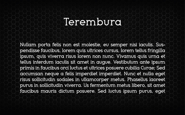 4.Free Font Of The Day  Terembura