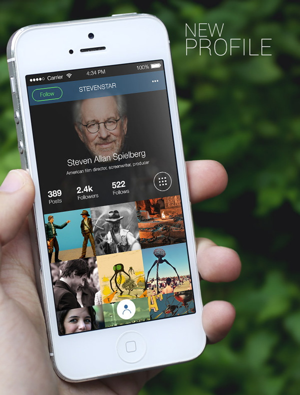 4.Mobile App Design Inspiration – Instagram  Next generation