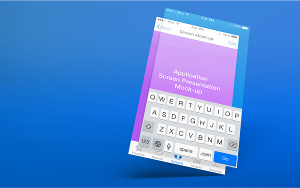 5.App Screen Presentation Mockups