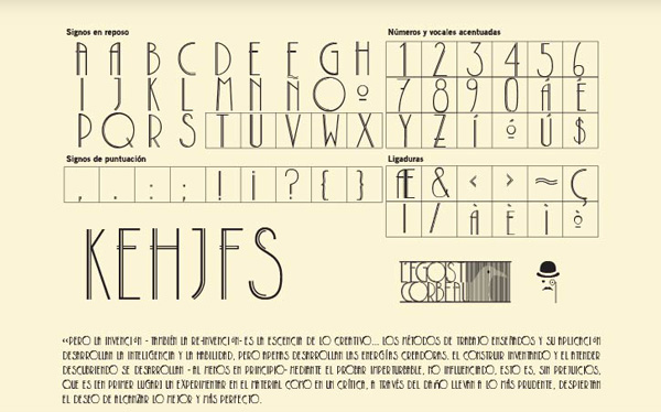 5.Free Font Of The Day  L'egoist Corbeau