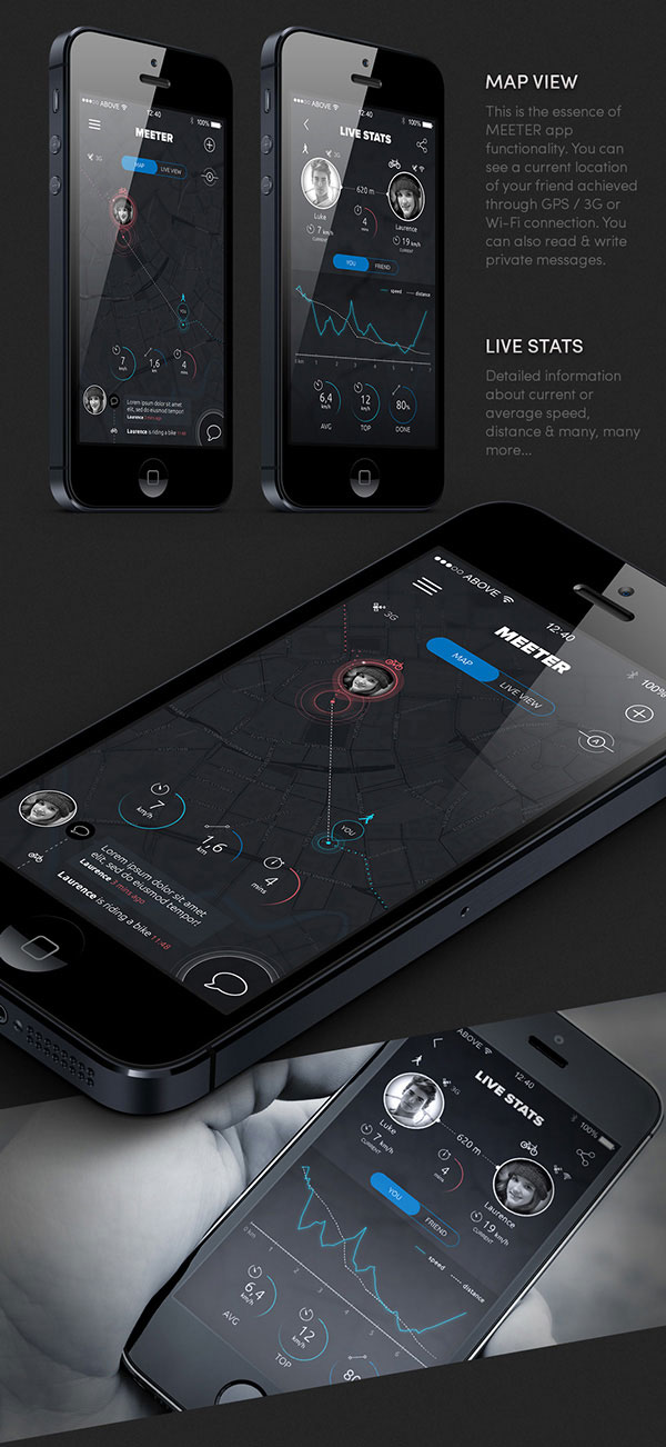 5.Mobile App Design Inspiration – MEETER