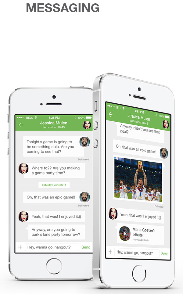 5.Mobile App Design Inspiration – WhatsApp Redesign for iOS 8 (2014)