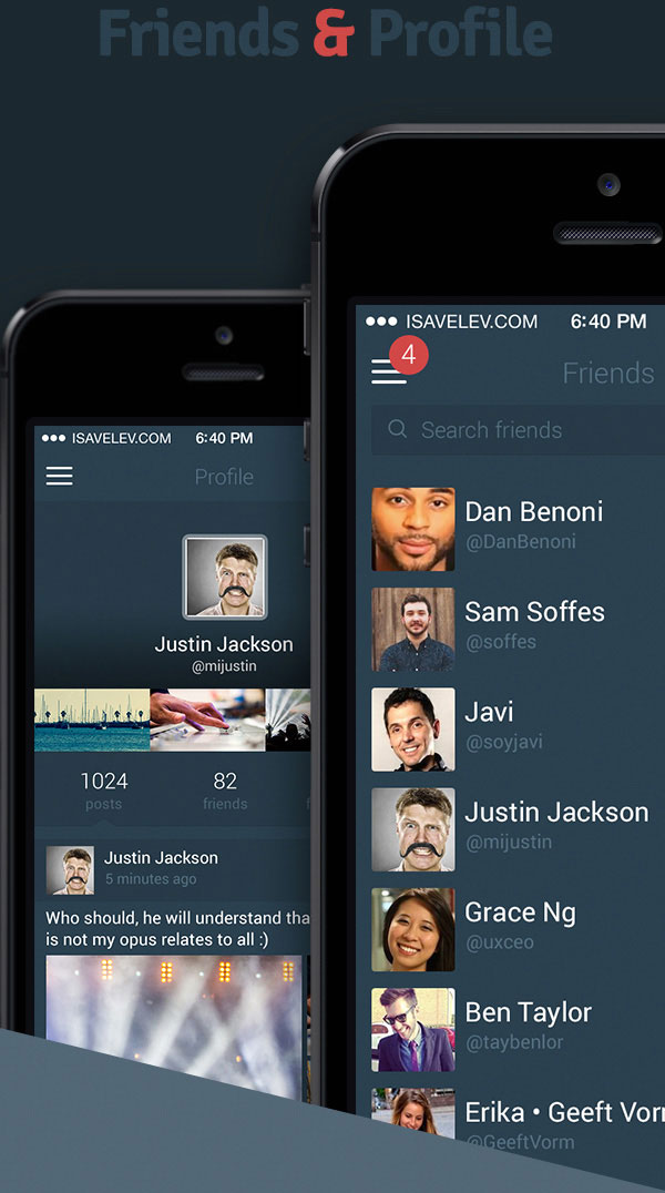 5.Mobile App Design Inspiration – isocial