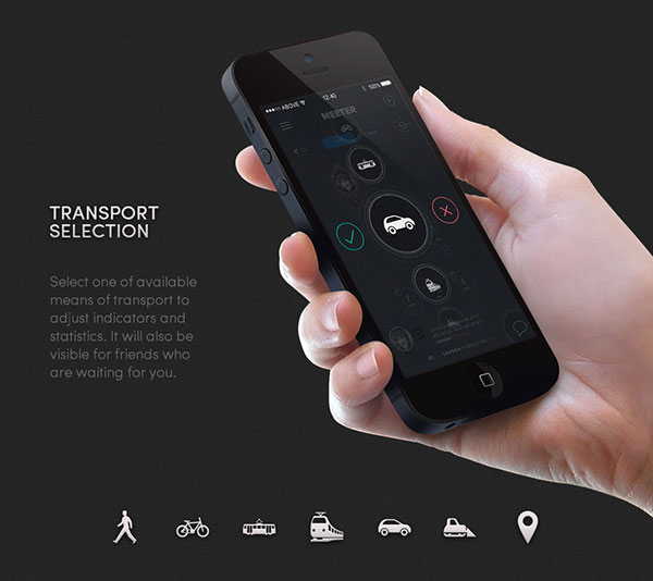 6.Mobile App Design Inspiration – MEETER