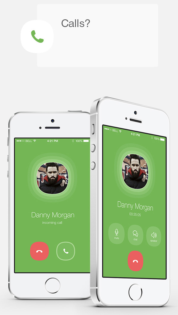 6.Mobile App Design Inspiration – WhatsApp Redesign for iOS 8 (2014)