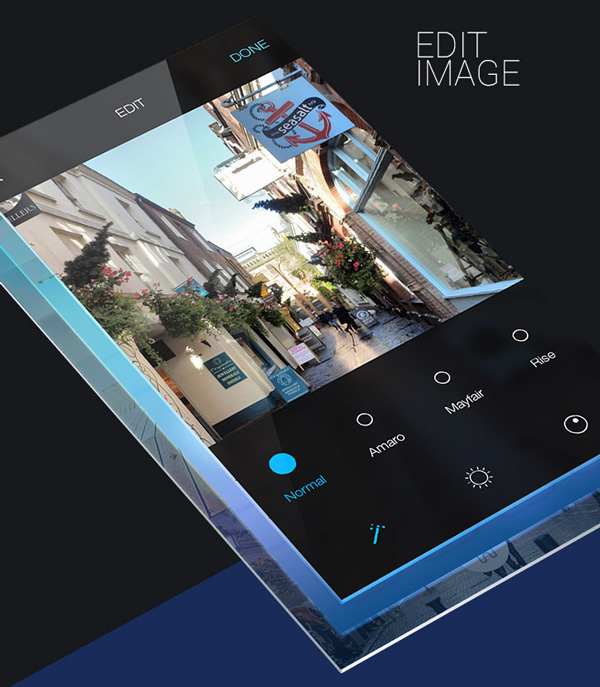 6.Mobile App Design Inspiration – Instagram  Next generation