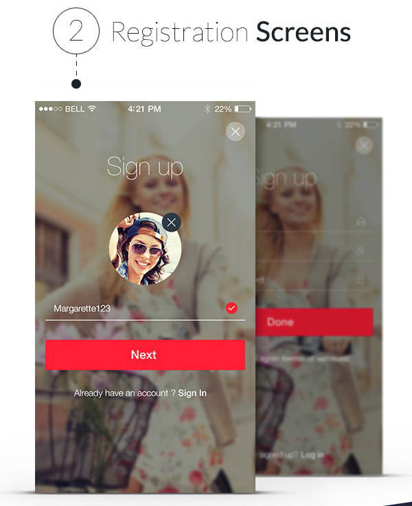 7.Mobile App Design Inspiration – Lappsy (free iOS app)