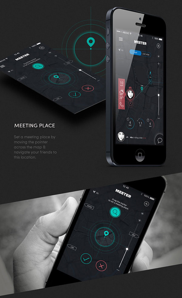 7.Mobile App Design Inspiration – MEETER