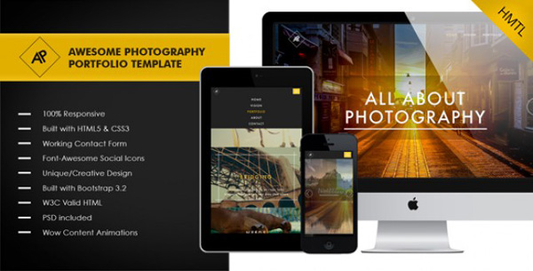 Awesome-Photography-and-Portfolio-Template