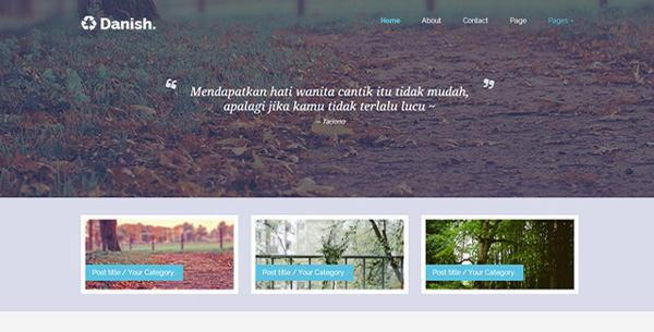 Danish-Personal-Blog-Template