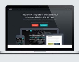 Responsive HTML5 and CSS3 Landing Page Template