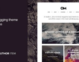 blogging theme for WordPress