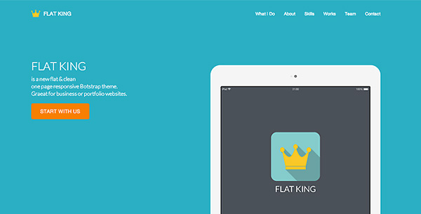 flat-king-one-page-template