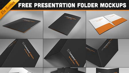 free download : 15 folder design mockup templates for photoshop, Presentation templates