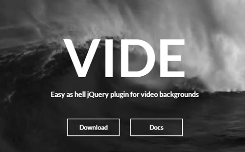 Vide – Easy as hell jQuery Plugin for Video Backgrounds | Designbeep