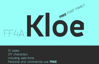 1.Free Font Of The Day  FF4a Kloe