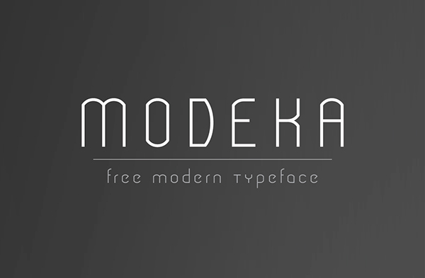 1.Free Font Of The Day  Modeka