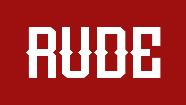 1.Free Font Of The Day  Rude