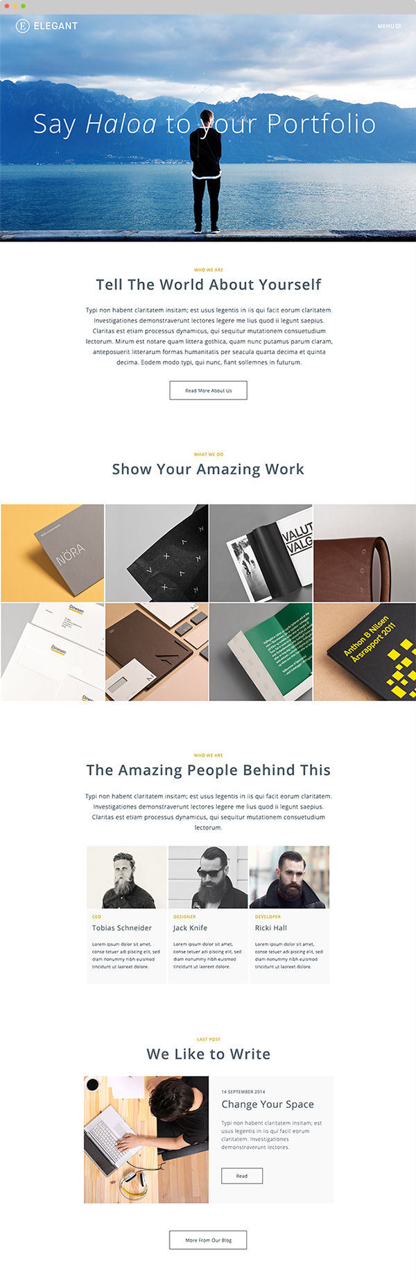 1.Free HTML template