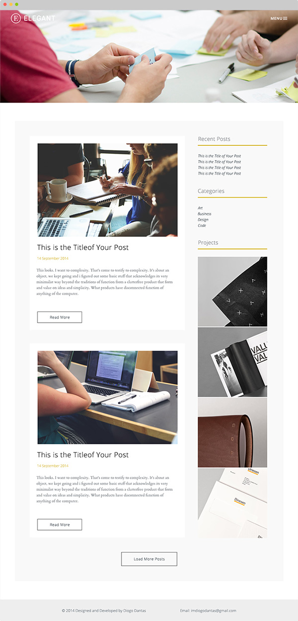 2.Free HTML template