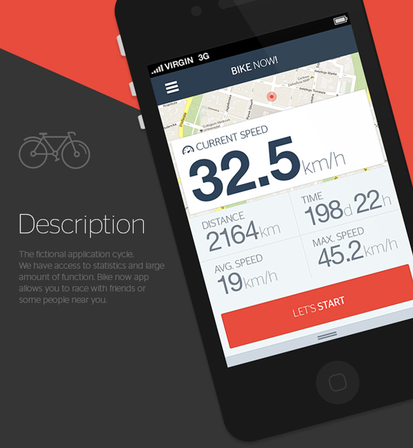 2.Mobile App Design Inspiration – Bike now