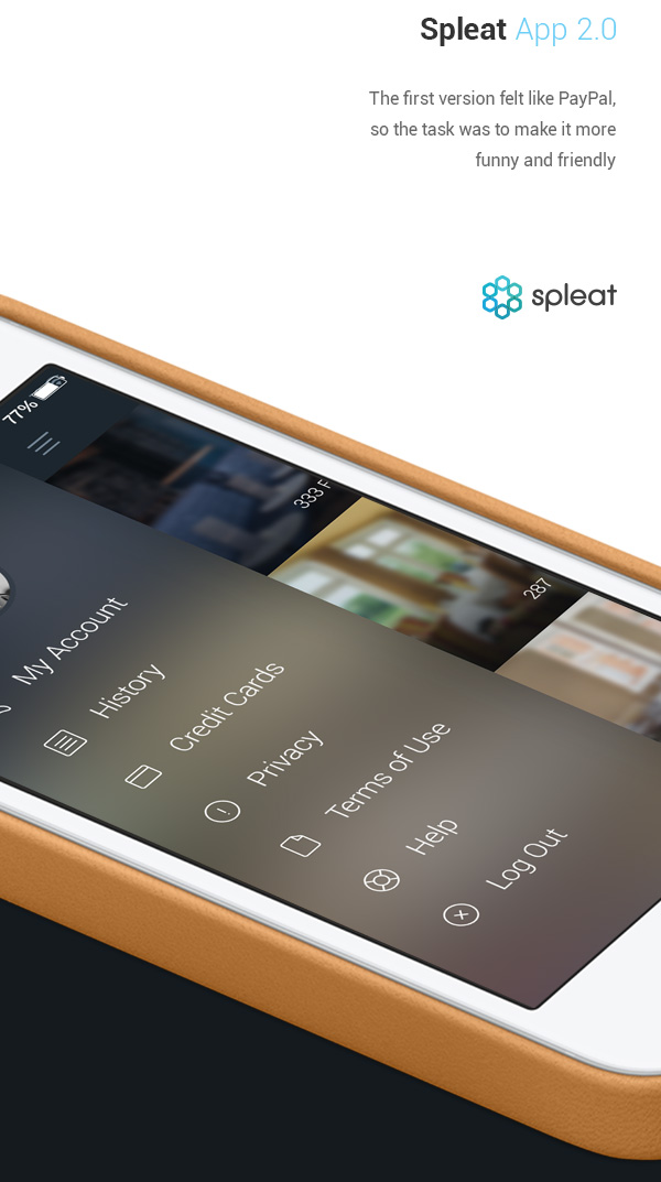 2.Mobile App Design Inspiration – Spleat iPhone App 2.0