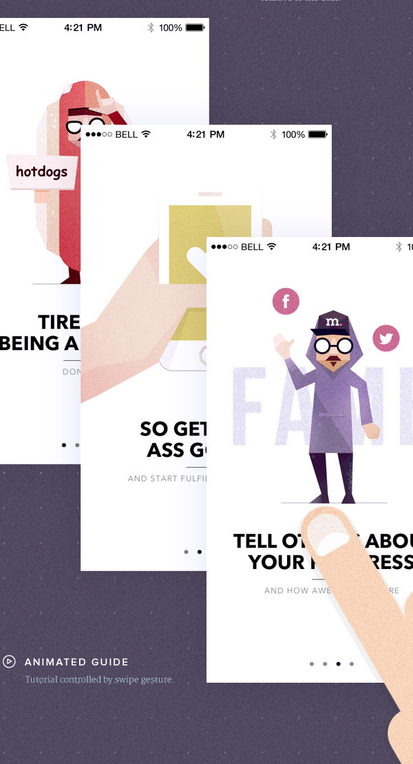 2.Mobile App Design Inspiration – Visionare