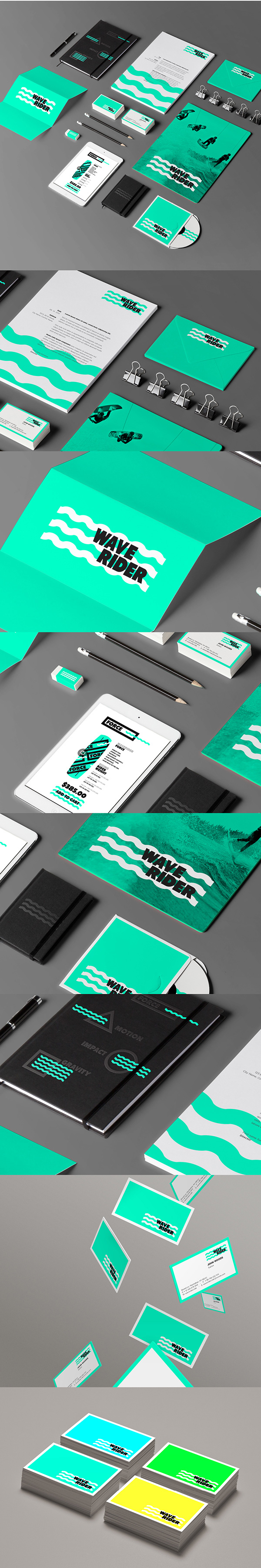 2.Visual Identity and Branding Series  WAVE RIDER