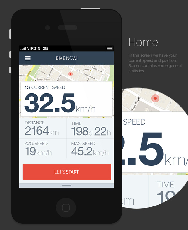 3.Mobile App Design Inspiration – Bike now