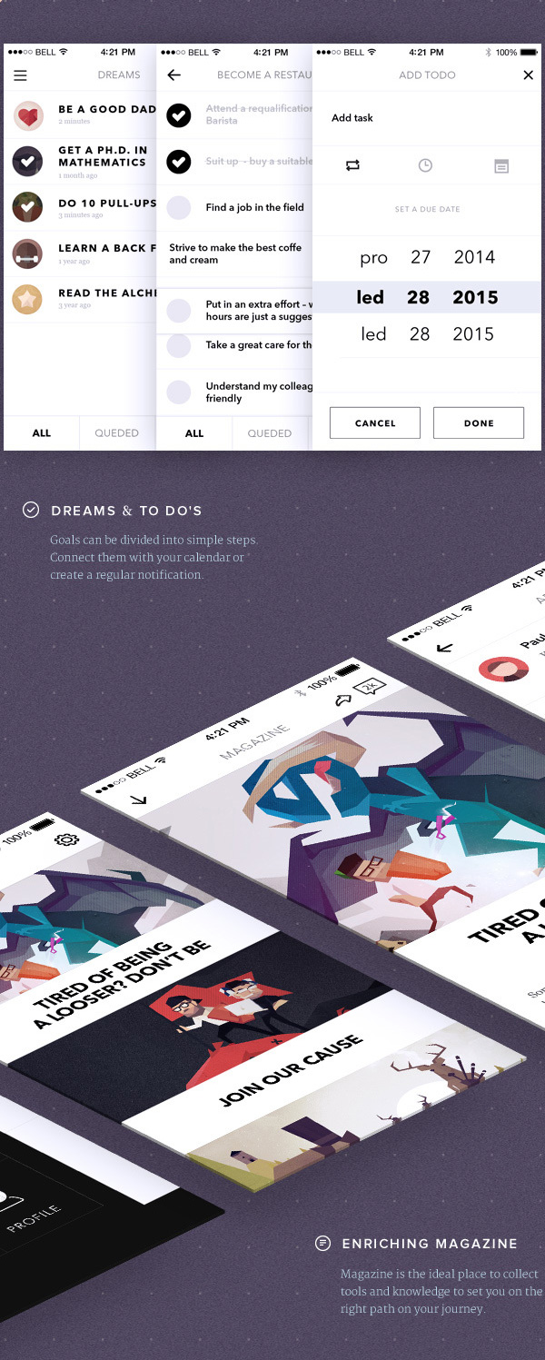 3.Mobile App Design Inspiration – Visionare