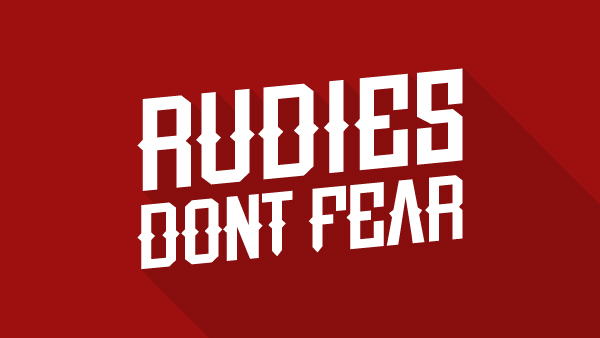 4.Free Font Of The Day  Rude
