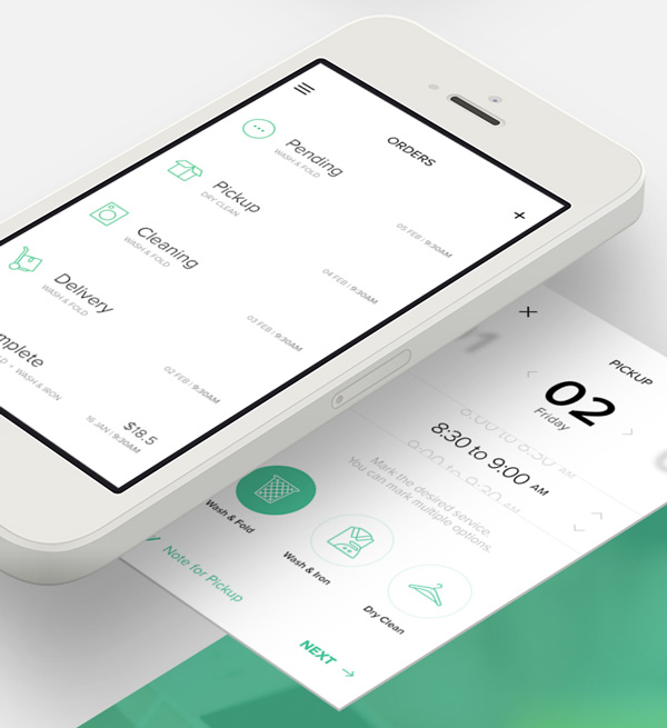 4.Mobile App Design Inspiration – Cleanly