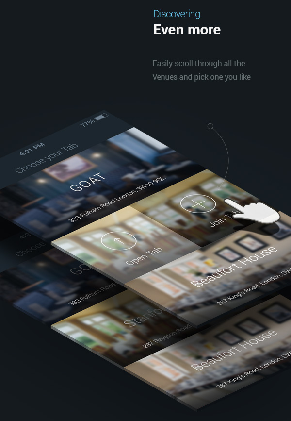 4.Mobile App Design Inspiration – Spleat iPhone App 2.0