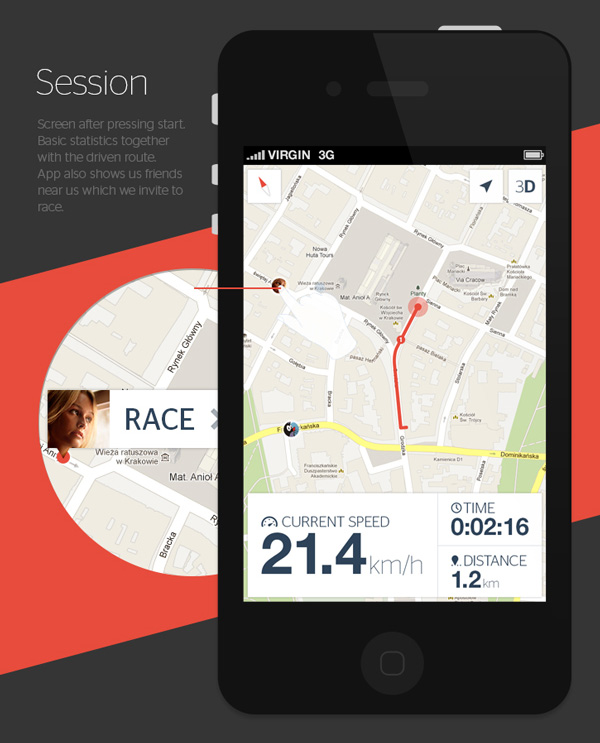 6.Mobile App Design Inspiration – Bike now