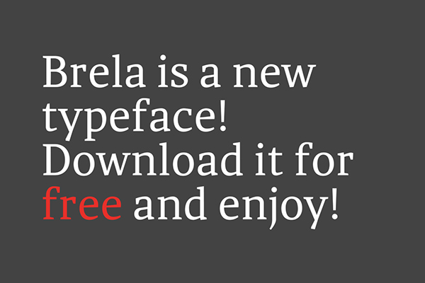 9.Free Font Of The Day  Brela