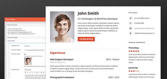 Resume Builder – A Wordpress Plugin To Build Out Your Complete