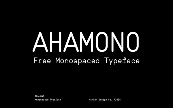 1.Free Font Of The Day  Ahamono