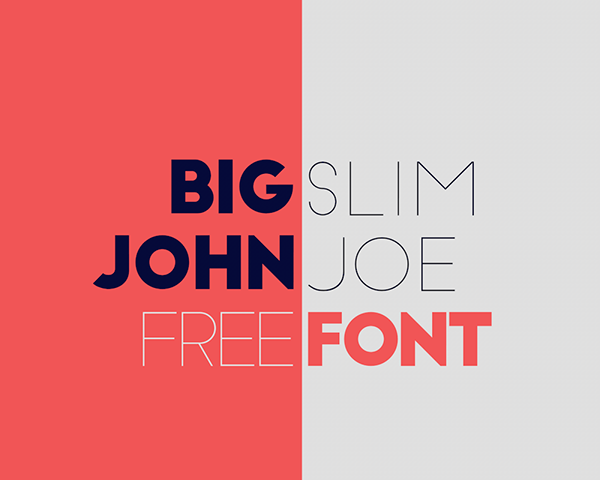 1.Free Font Of The Day  Big John  Slim Joe