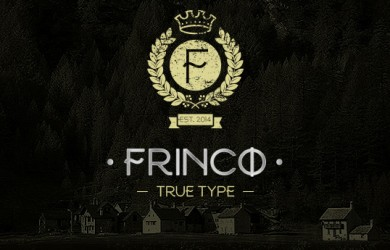 1.Free Font Of The Day  Frinco