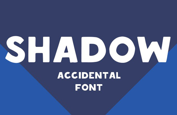 1.Free Font Of The Day  Shadow