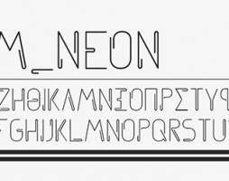 1.Free Font Of The Day  Srfm_Neon